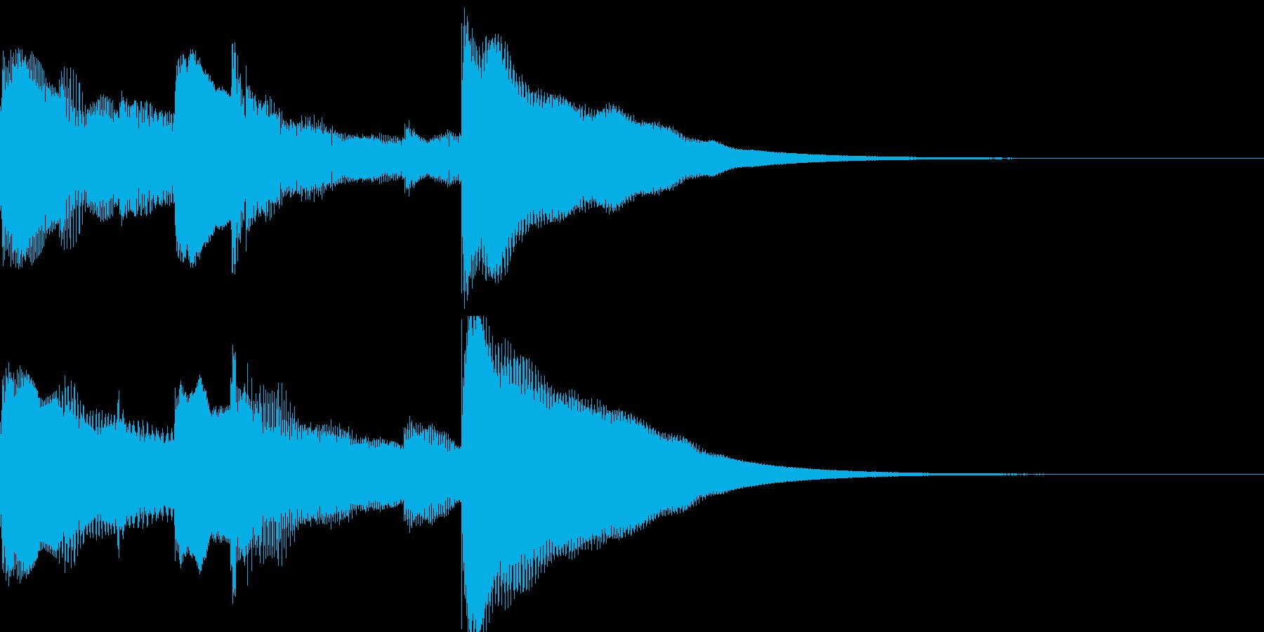チャイム 場面転換の再生済みの波形