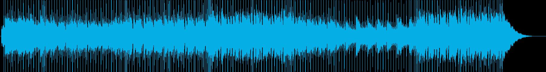 元気よく歩く速度のポップなロックの再生済みの波形