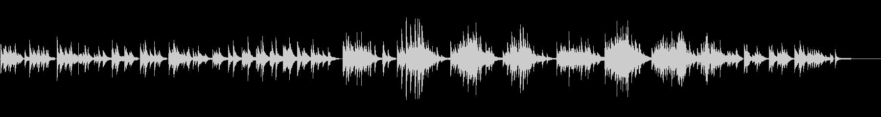 生ピアノソロ・夜の雪の未再生の波形