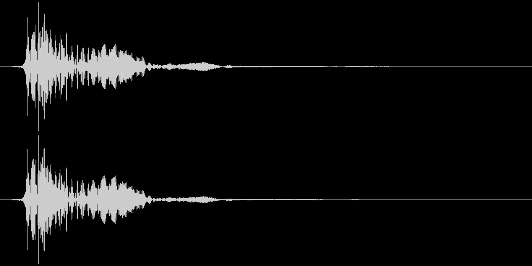 不協和音ハウリング【ホラー】ドゥン…の未再生の波形