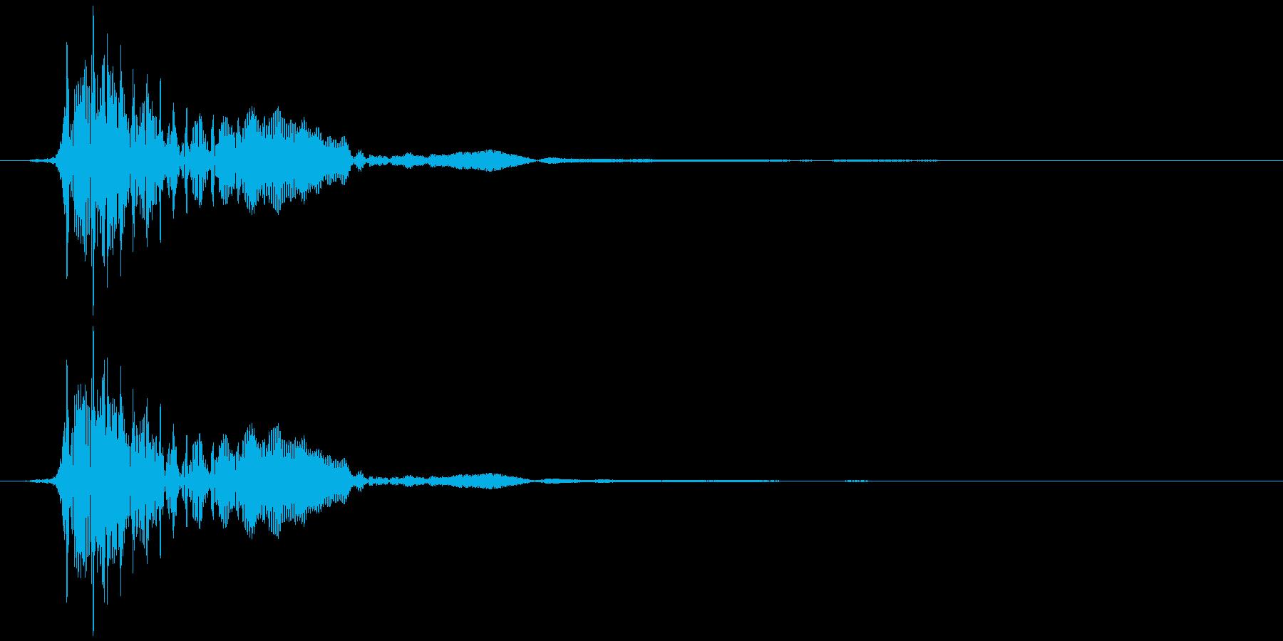不協和音ハウリング【ホラー】ドゥン…の再生済みの波形