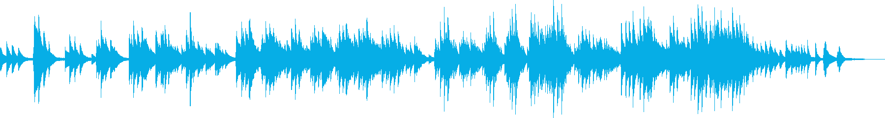 美しい景色(ピアノ・幻想的・ゆったり)の再生済みの波形