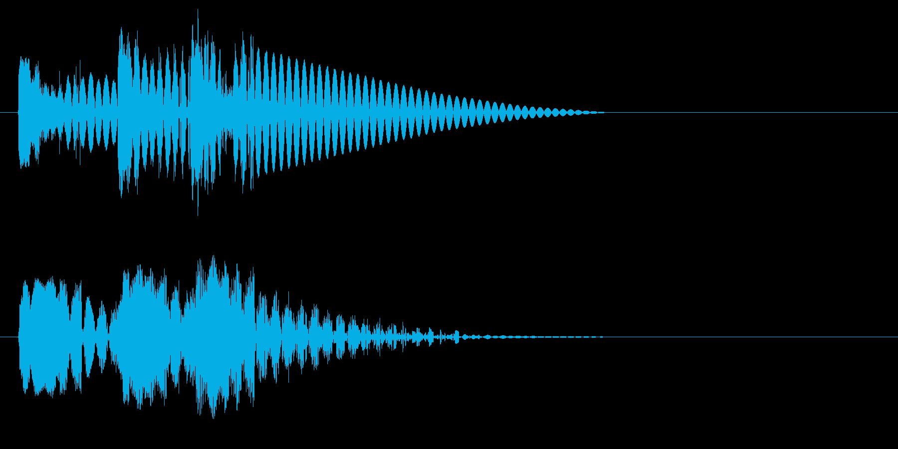 ドドドン 射撃音2 ゲームなどの再生済みの波形