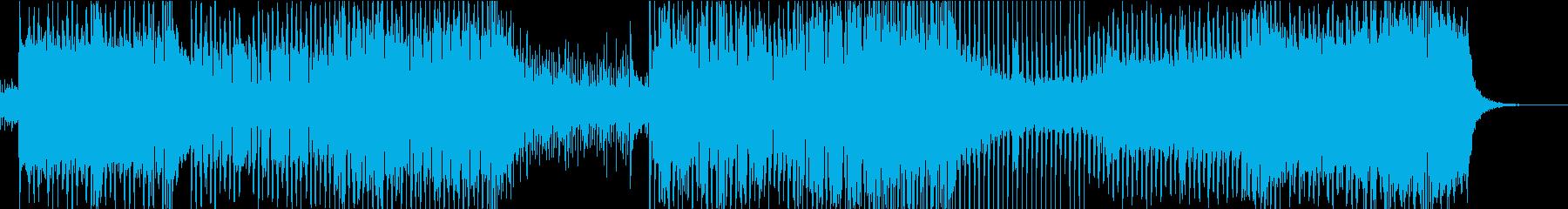 レーシングゲームのステージ的なBGMの再生済みの波形