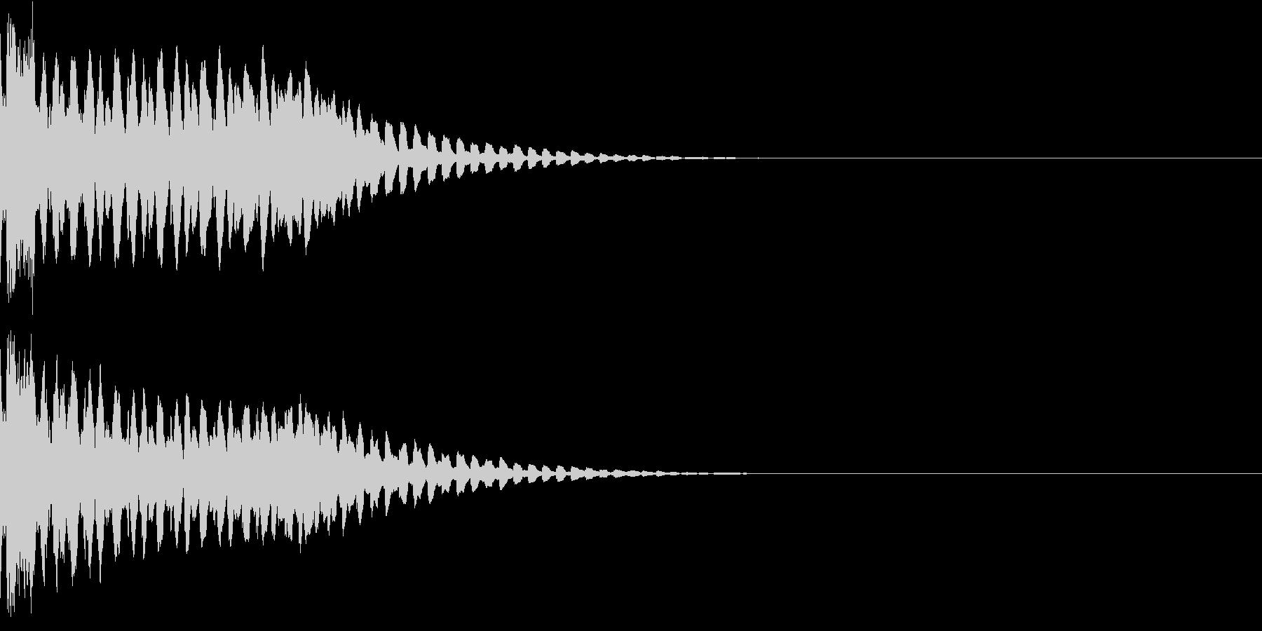 キュイン ボタン ピキーン キーン 30の未再生の波形