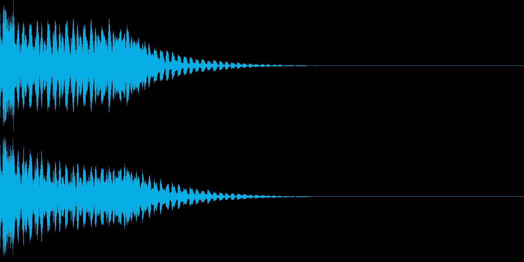 キュイン ボタン ピキーン キーン 30の再生済みの波形