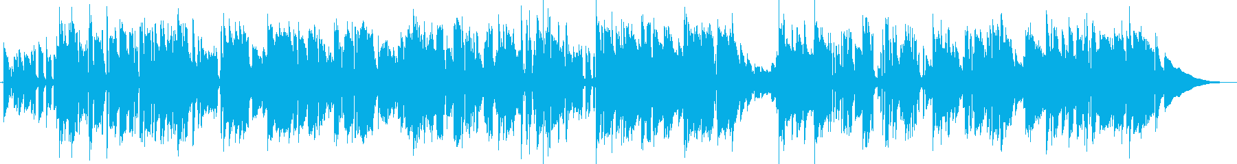 生演奏 エレキギターのみのブルースBGMの再生済みの波形