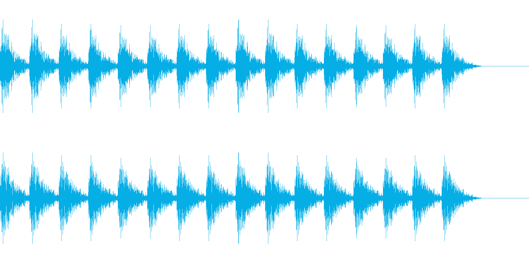 どんどん(巨人、速歩き)A12の再生済みの波形