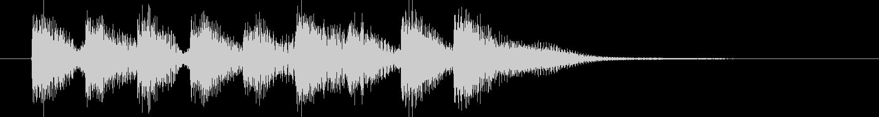 ジングル(ポップ1)の未再生の波形