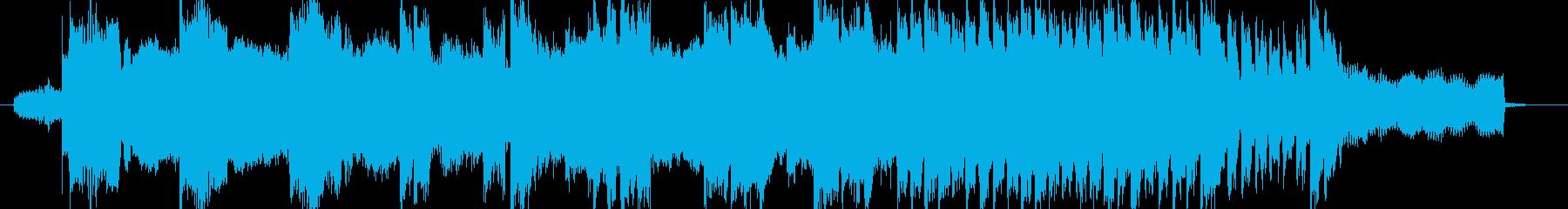 幻想的で雄大、無機質なジングルの再生済みの波形