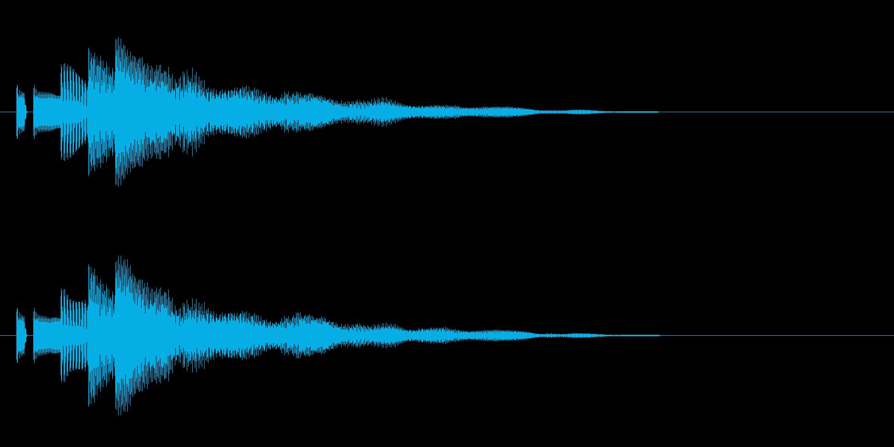 決定音。「タララン」の再生済みの波形