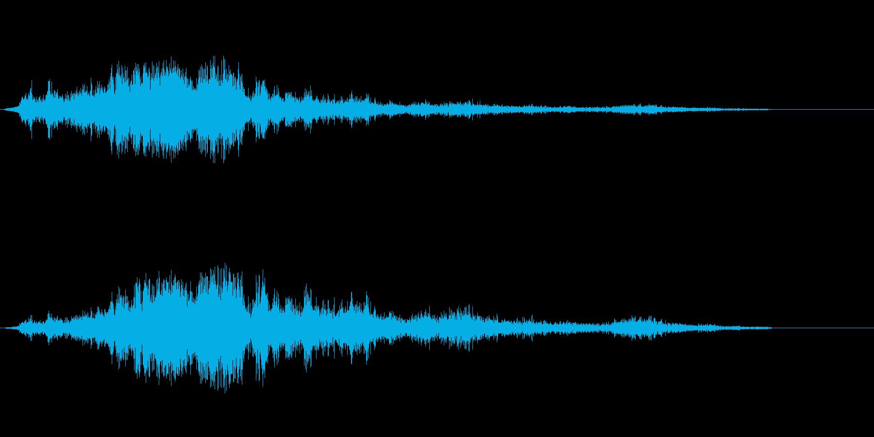 F-111戦闘爆撃機の飛行機は、ア...の再生済みの波形