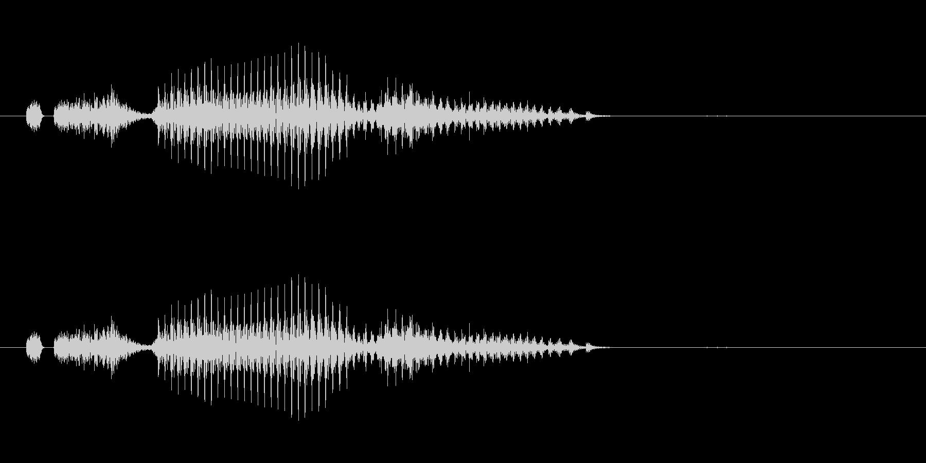 索子(麻雀)の未再生の波形