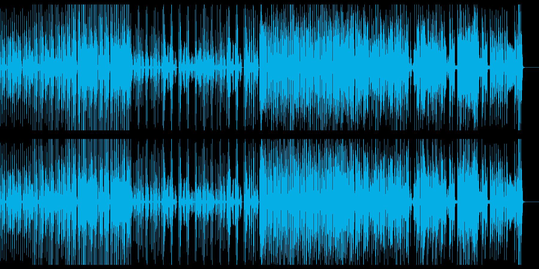 幻想的な雰囲気のテクノBGMの再生済みの波形