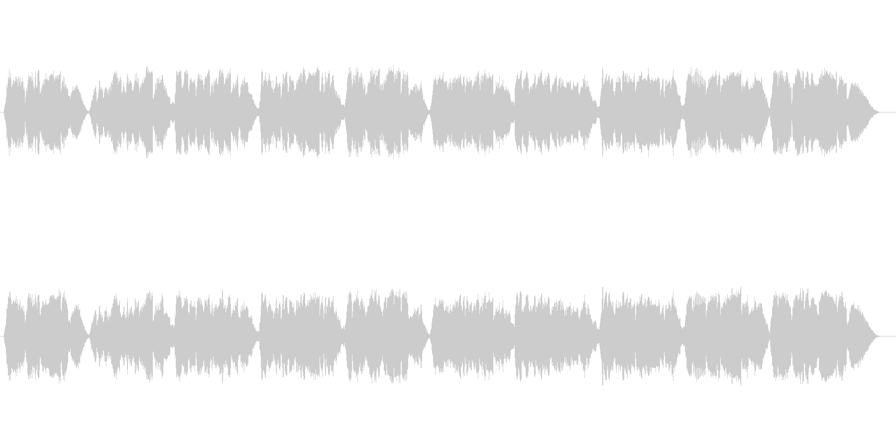 無伴奏ヴァイオリンによる童謡「ふるさと」の未再生の波形