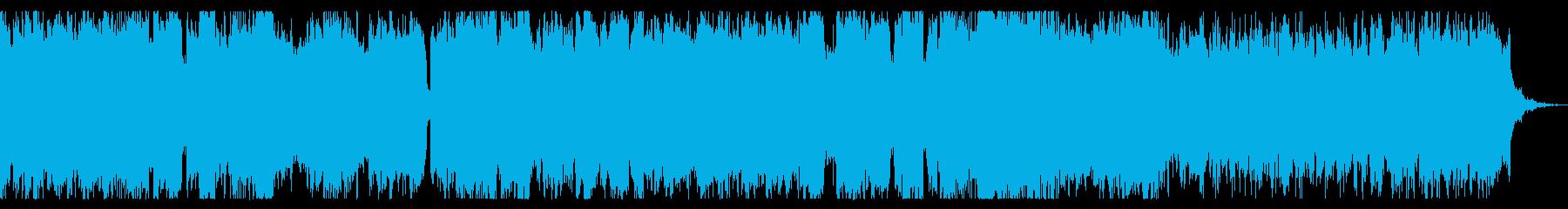 レトロゲーム音楽風 勇壮なチップチューンの再生済みの波形