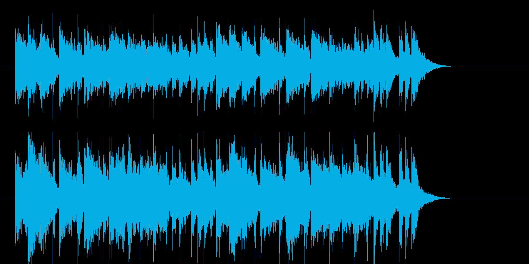 煌びやかでアップテンポなジングルの再生済みの波形