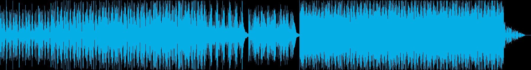 おしゃれなコードとブレイクビーツの再生済みの波形