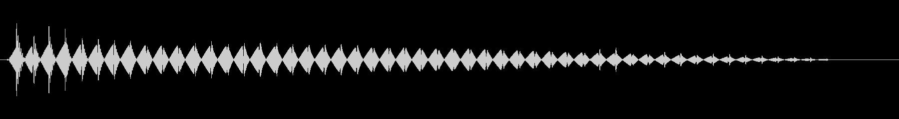 ブワ〜ン(不気味な敵の出現音)の未再生の波形