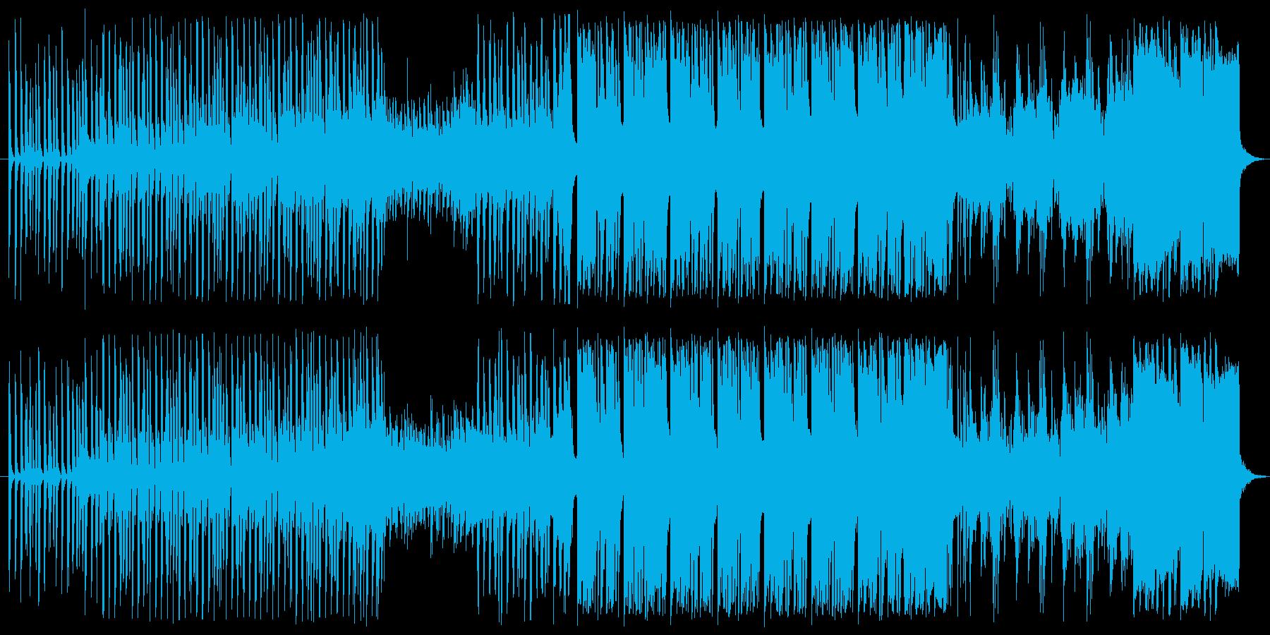 クールなテクノオーケストラの再生済みの波形