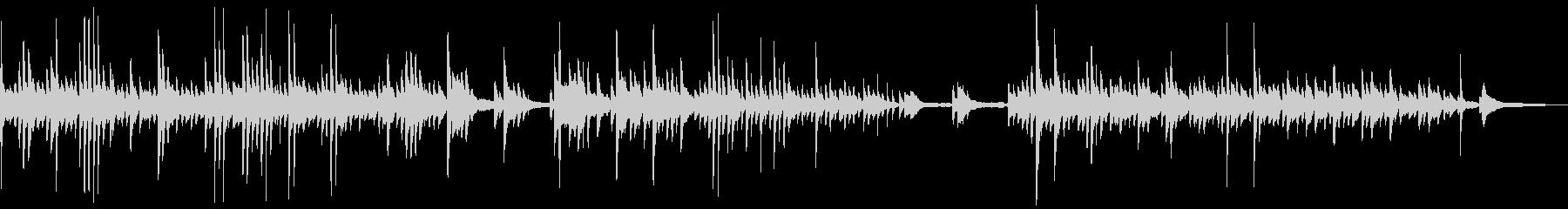 静穏で神秘的な雰囲気のピアノソロBGMの未再生の波形