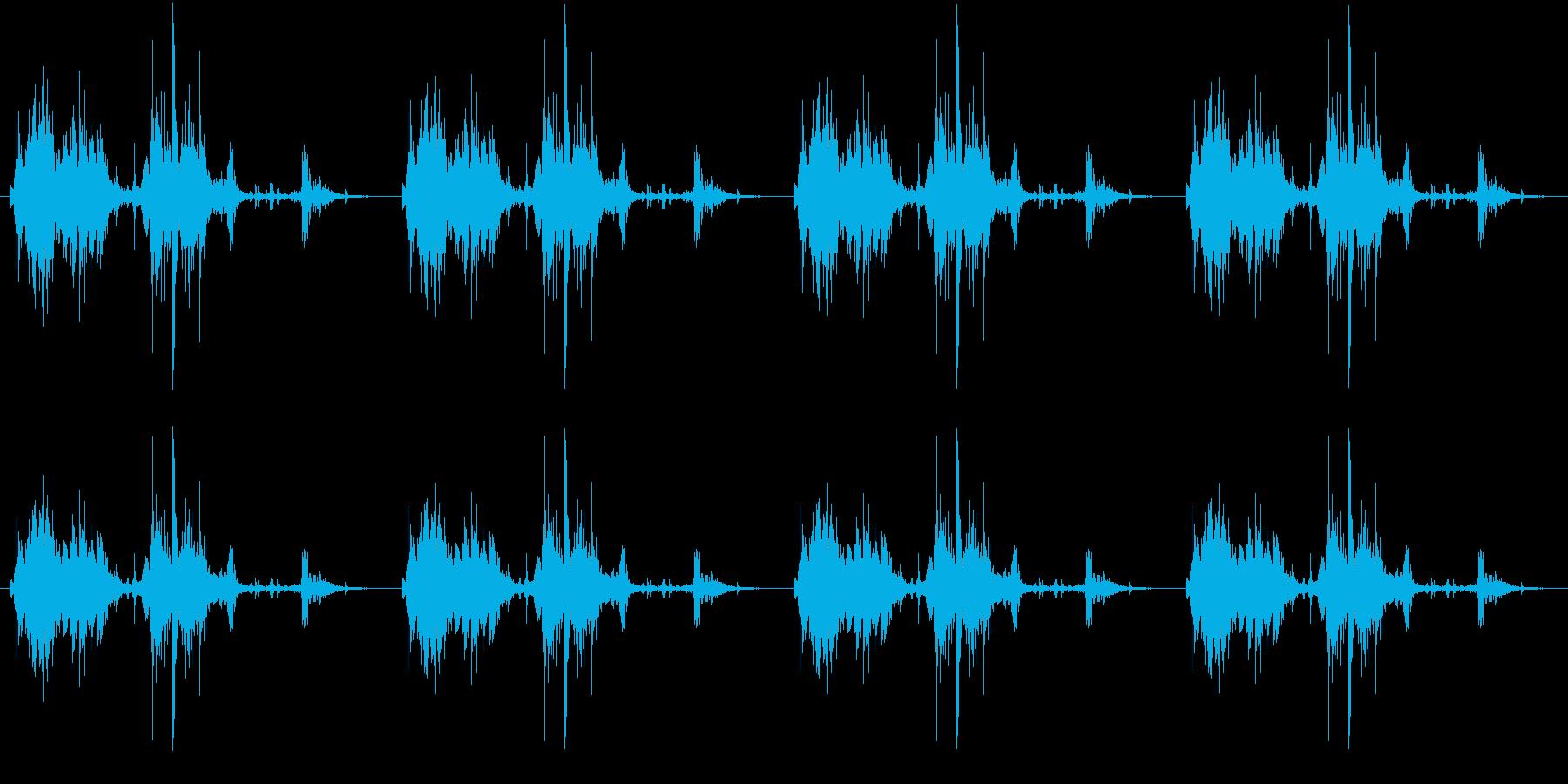 【生録音】ロボットのおもちゃ 歩く音 1の再生済みの波形