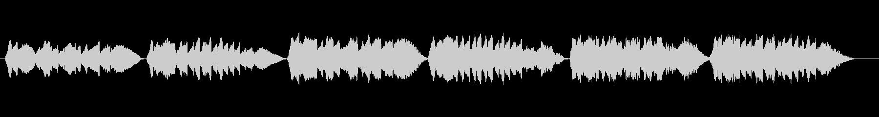 無伴奏ヴァイオリンによる童謡「赤とんぼ」の未再生の波形