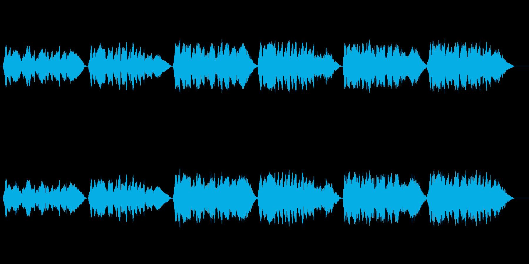 無伴奏ヴァイオリンによる童謡「赤とんぼ」の再生済みの波形