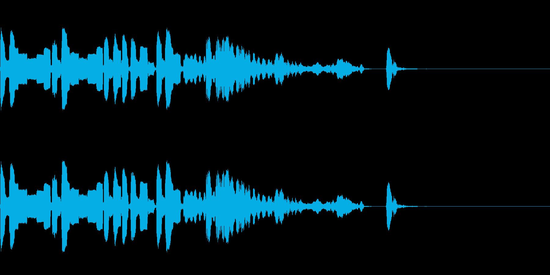 さまざまな面白いノックド無意識音と...の再生済みの波形