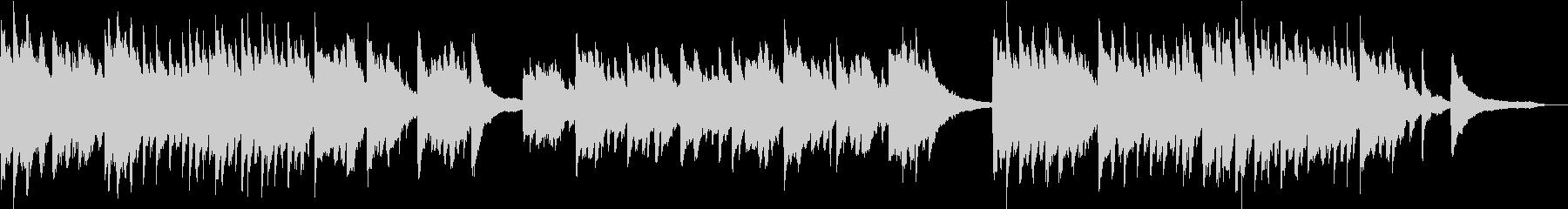 企業VP映像に未来・感動ピアノソロBGMの未再生の波形