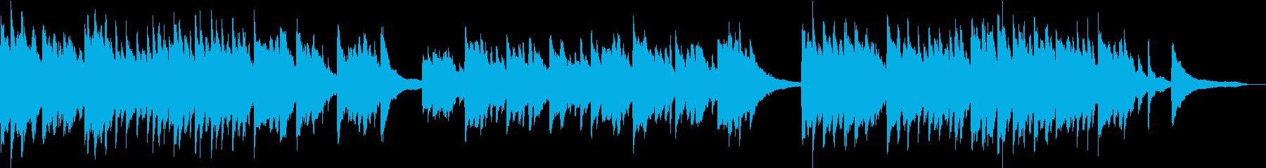 企業VP映像に未来・感動ピアノソロBGMの再生済みの波形