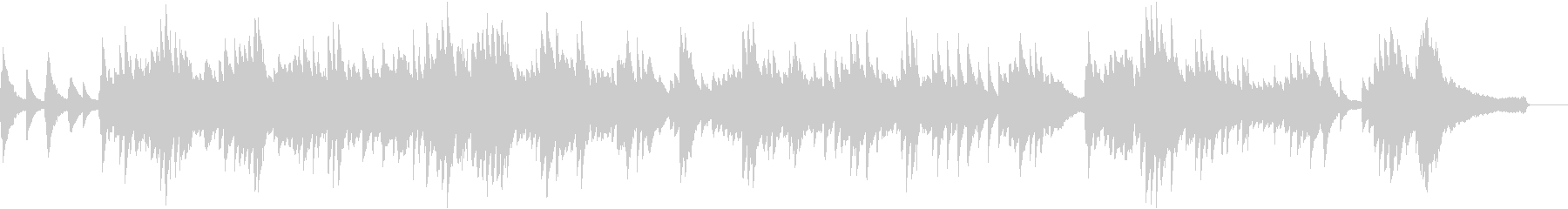 優しくノスタルジックなピアノソロBGMの未再生の波形