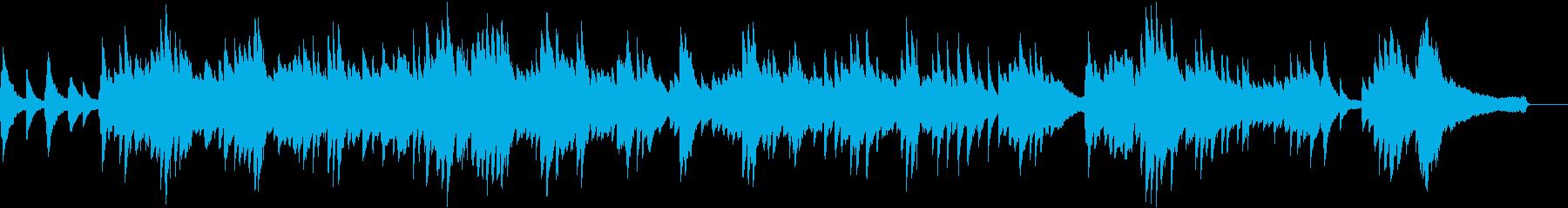 優しくノスタルジックなピアノソロBGMの再生済みの波形