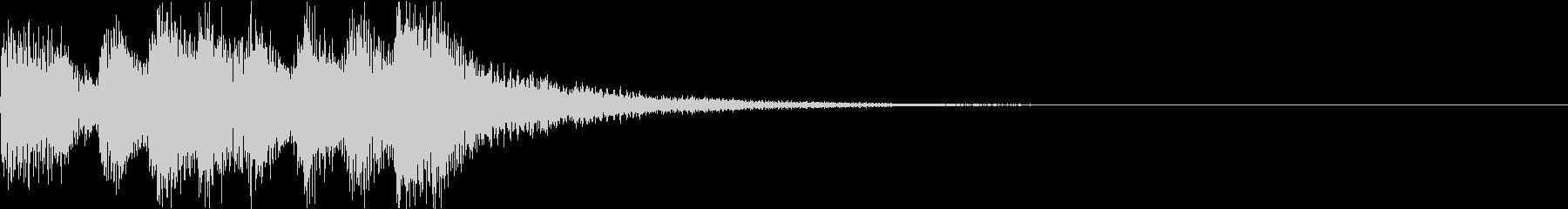 ショート ファンファーレ ベル ブラスDの未再生の波形