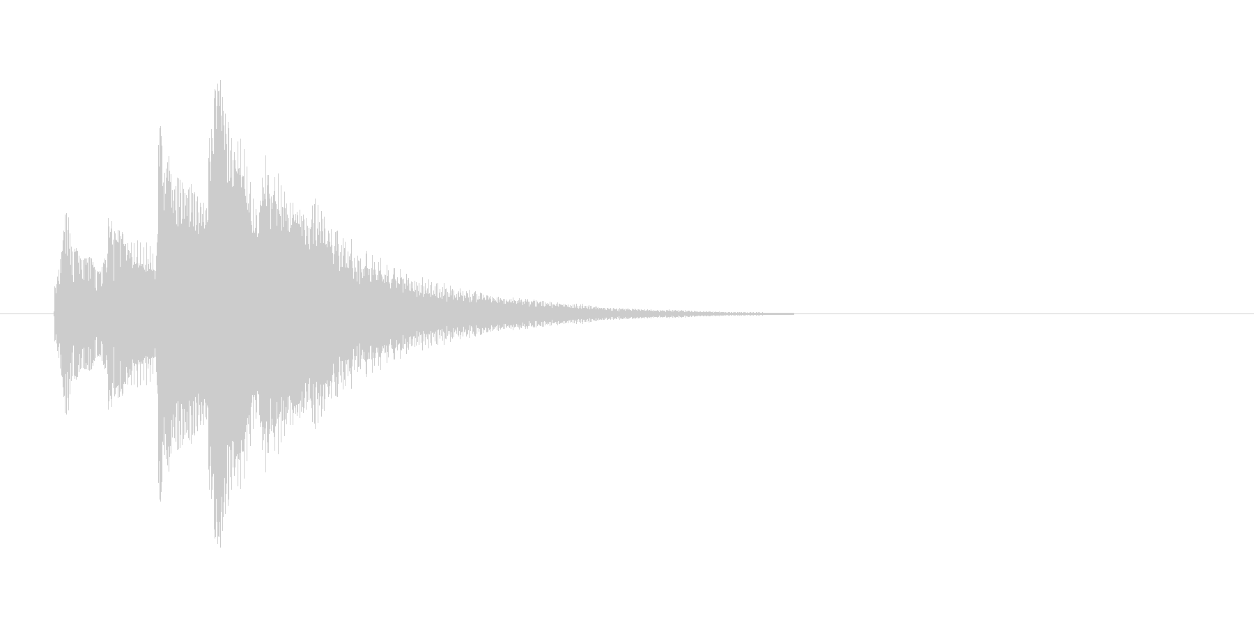 場面転換の効果音(ハープ)の未再生の波形