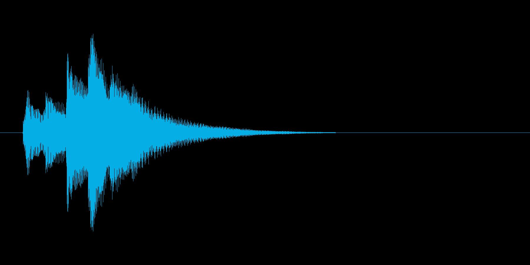 場面転換の効果音(ハープ)の再生済みの波形