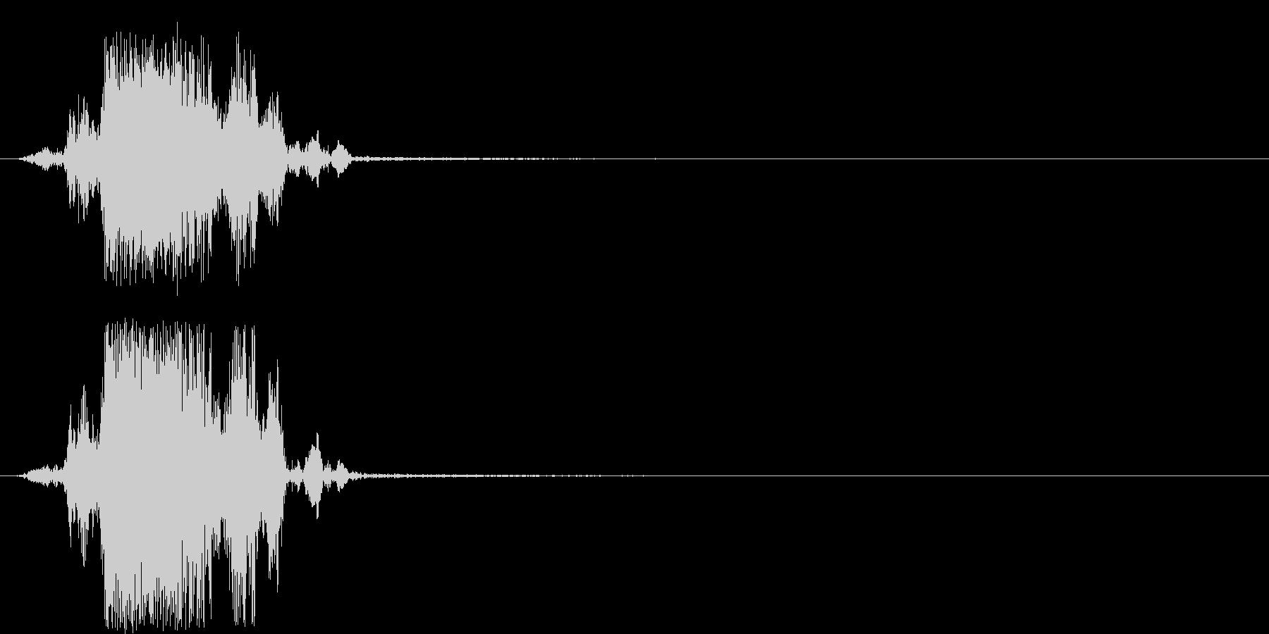 ザク 穴掘り音の未再生の波形