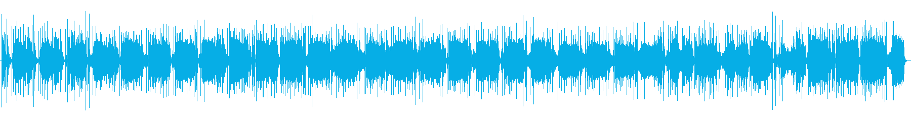 ほのぼのとしたジャズ風ポップスの再生済みの波形