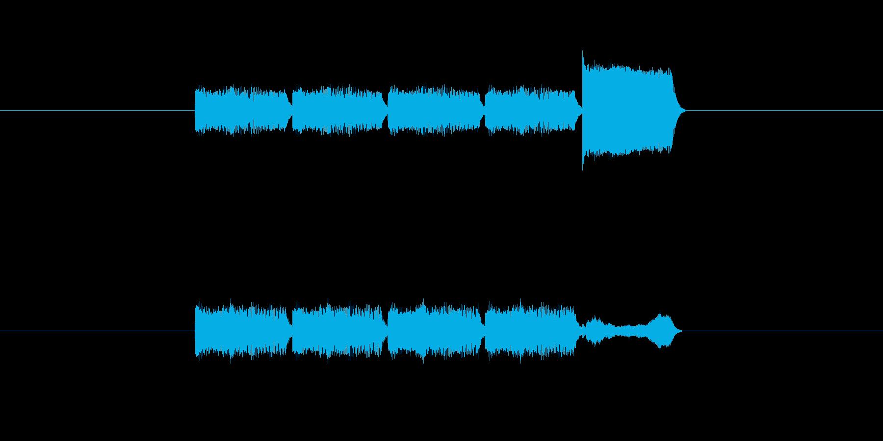 「5」を表す音のカウンターですの再生済みの波形