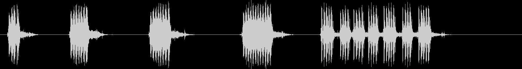M-60自動:複数のバースト。各バ...の未再生の波形