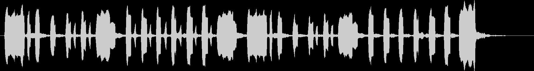 ほのぼのとした短い曲の未再生の波形