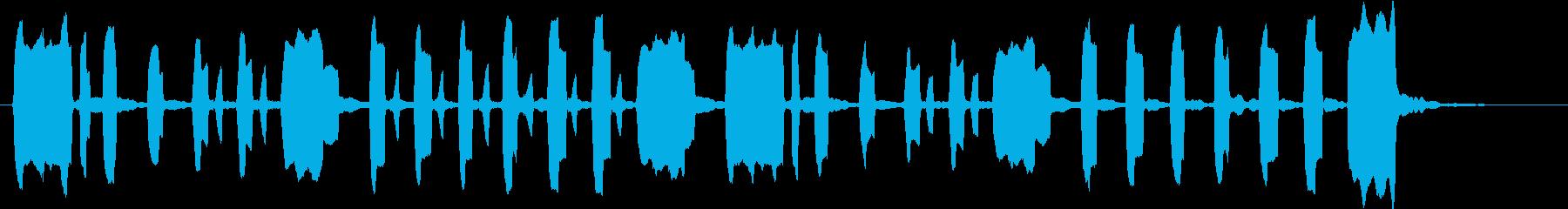 ほのぼのとした短い曲の再生済みの波形