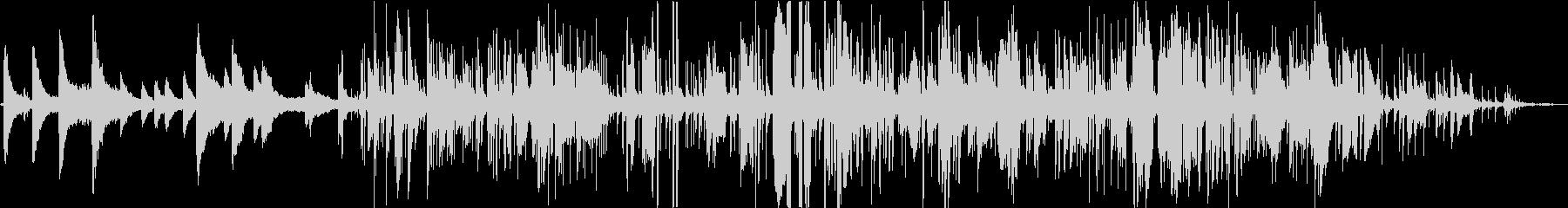 ジャジーなピアノ、サックスBGMの未再生の波形