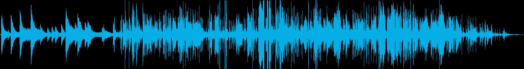 ジャジーなピアノ、サックスBGMの再生済みの波形