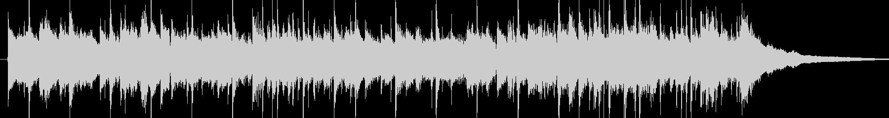 ピアノの旋律が印象的なジングルの未再生の波形