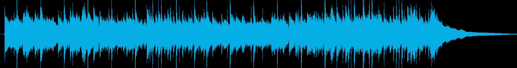 ピアノの旋律が印象的なジングルの再生済みの波形