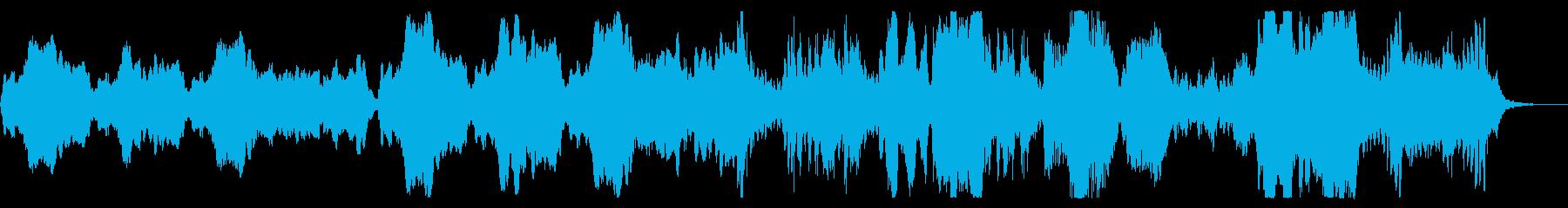 フルートを使った疾走感のあるオーケストラの再生済みの波形