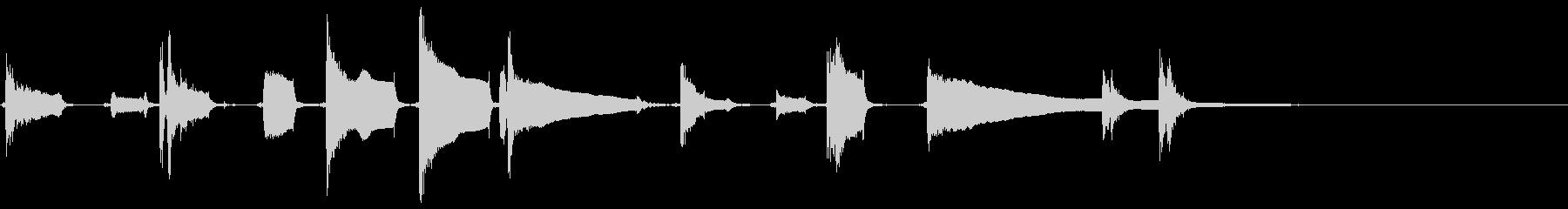 タンバリンとアコギブルースワンフレーズの未再生の波形