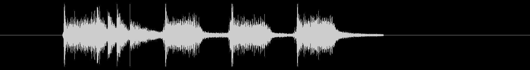 パーカッションが熱いポップロック風BGMの未再生の波形