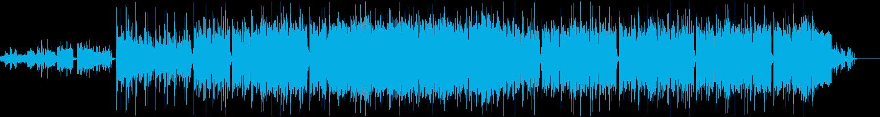 ワルいロックなBGMの再生済みの波形